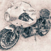 Ducati Paulsmart 1000 Le - 2006 - Motorcycle Poster - Automotive Art Art Print