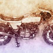 Ducati Supersport 2 - Sports Bike - 1975 - Motorcycle Poster - Automotive Art Art Print