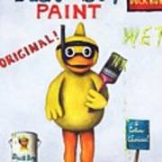 Duck Boy Paint Art Print by Leah Saulnier The Painting Maniac