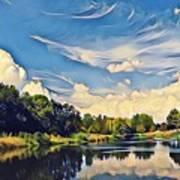 Reflections At Duck Creek Art Print