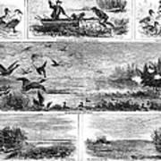 Duck Hunting, 1868 Art Print