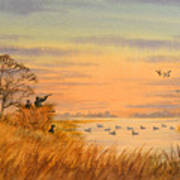 Duck Hunting Calls Art Print