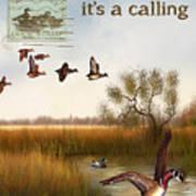 Duck Hunting-jp2783 Art Print