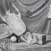 Duck Study On A Table Art Print