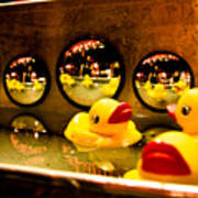 Ducky Reflections Art Print