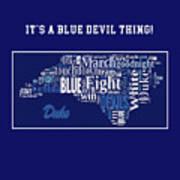 Duke University Fight Song Products Art Print