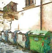 Dumpster Of Garbage Art Print