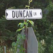 Duncan Ln Art Print