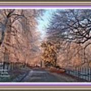 Dundalk Avenue In Winter. L A With Alt. Decorative Printed Frame. Art Print