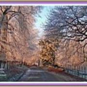 Dundalk Avenue In Winter. L A With Decorative Ornate Printed Frame. Art Print