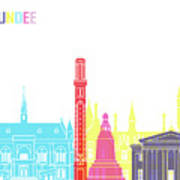Dundee Skyline Pop Art Print
