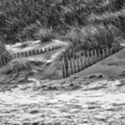 Dunes In Black And White Art Print