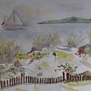 Dunes In Corsica Art Print