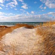 Dunes In Winter Art Print
