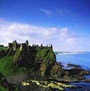 Dunluce Castle, Co Antrim, Irish, 13th Art Print