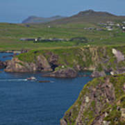 Dunquin Bay And Coast Art Print