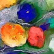 Duo De Fleurs 2 Art Print