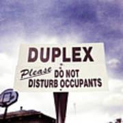 Duplex Yard Sign Stormy Sky Art Print