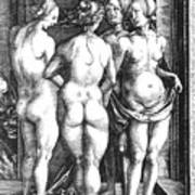 Durer Four Witches, 1497. For Licensing Requests Visit Granger.com Art Print