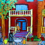 Durocher Street Montreal Art Print