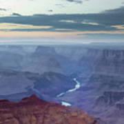 Dusk At Desert View Art Print