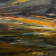 Dusk At The River Art Print