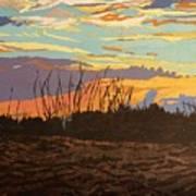 Dusk Fishing, Hutchinson Island Art Print