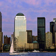Dusk On Lower Manhattan Art Print
