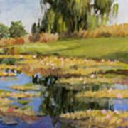 Dusk Over The Pond Art Print