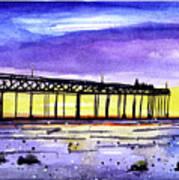 Dusk Pier Art Print