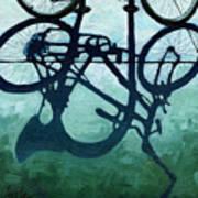 Dusk Shadows - Bicycle Art Art Print