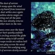 Dust Of Sorrow - Poetry In Art Art Print