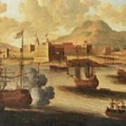 Dutch And English Warships Art Print