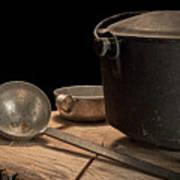 Dutch Oven And Ladle Art Print by Tom Mc Nemar