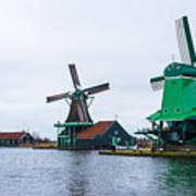 Dutch Windmills 1 Art Print