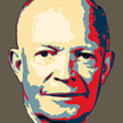 Dwight D. Eisenhower Pop Art Art Print