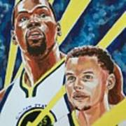 Dynamic Duo - Durant And Curry Art Print