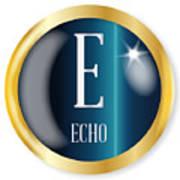 E For Echo Art Print