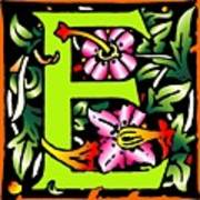 E In Green Art Print