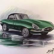 E Type Jag Art Print