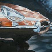 E-type Jaguar Art Print