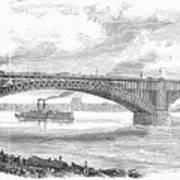 Eads Bridge, St Louis Art Print