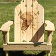 Eagle Adirondack Chair Art Print