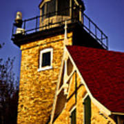 Eagle Bluff Lighthouse Of Door County Art Print by Mark David Zahn