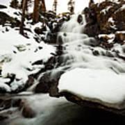Eagle Falls Raging On Ice Art Print