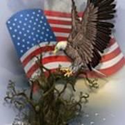 Eagle Lands Art Print
