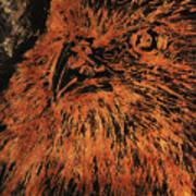 Eagle Metallic Copper Art Print