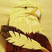 Eaglehead With Two Feathers Art Print