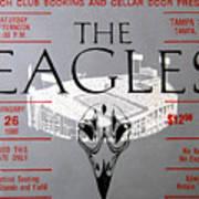 Eagles Concert Ticket 1980 Art Print