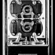 Early 1900s Type Cs Watthour Meter In Black And White Art Print